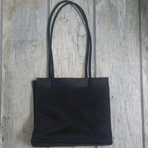 Donna Karan Black Nylon Shoulder Bag Purse 90's